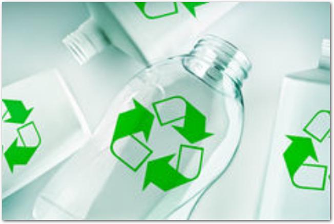 プラスチック容器にリサイクルマーク